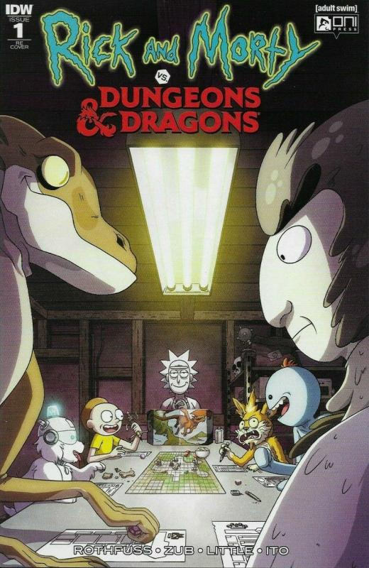Rick and Morty vs Dungeons & Dragons #1 Variant Cover CJ Cannon Scorpion IDW