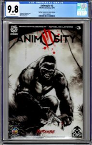 ANIMOSITY #3 - CGC 9.8 - Limited 50 Copies -Harambe Sketch Variant by Mike Rooth