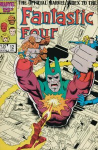 Official Marvel Index to the Fantastic Four #12 VF; Marvel   save on shipping -
