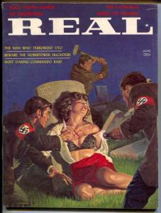 Real Magazine April 1963- terrible Nazi gang cover- RARE