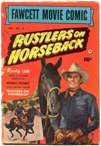 Fawcett Movie Comic #12 1951- Rustler son Horseback- Rocky Lane G+