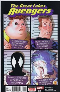 Great Lakes Avengers #2 2017 Marvel Comics Will Robson Cover
