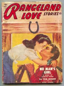 Rangeland Love Stories Pulp December 1953- No Man's Girl
