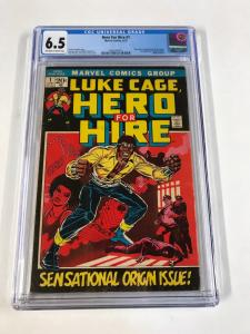 Luke Cage Hero For Hire 1 Cgc 6.5 Ow/w Pages 1st Appearance