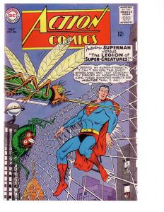 ACTION COMICS #326 1965-SUPERMAN-WILD INSECT COVER VG/FN