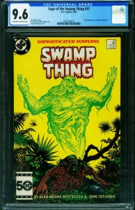 SWAMP THING #37 CGC Graded 9.6-First Hellblazer-2041560014