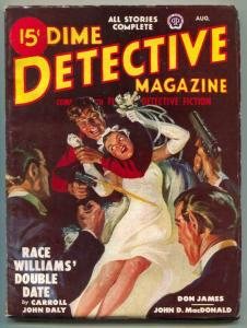 Dime Detective Pulp August 1948- Saunders-Race Williams