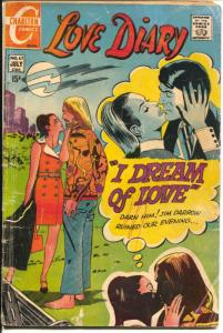 Love Diary #67 1970-Charlton-hippie cover & story-full page female images-G