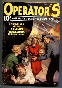 Operator #5 6/1935-Popular-hero pulp-INVASION OF THE YELLOW WARLORDS