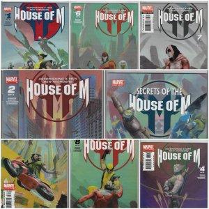 House of M #1-8 + Secrets  (DC, 2005) NM