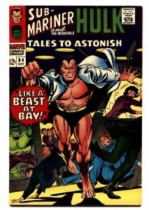 TALES TO ASTONISH #84-comic book-1966-OCTOBER-HULK/SUB-MARINER VF+