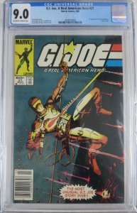 G.I. JOE #21 (Marvel,3/1984) CGC 9.0  1st Stormshadow! Silent Issue.