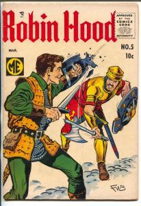 Robin Hood #5 1956-ME-Frank W Bolle art-Red Knight-Sir Gallant-FN-