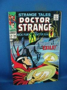 STRANGE TALES 168 F VF DOCTOR STRANGE NICK FURY STERANKO 1968