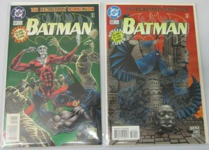 Batman glow in the dark covers #531+532 2 difference 9.4 NM (1996)
