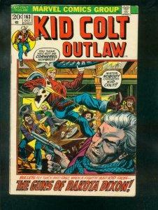 KID COLT OUTLAW #163 1972 VG
