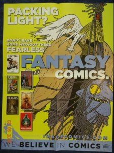 FANTASY COMICS Promo Poster, 18 x 24, 2018, IMAGE Unused more in our store 574