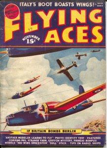 Flying Aces 101/1939-August Schomburg-Philip Strange-McWilliams-VG