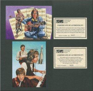 The Beatles Lennon/McCartney Commemorative Stamp Sheet  1995