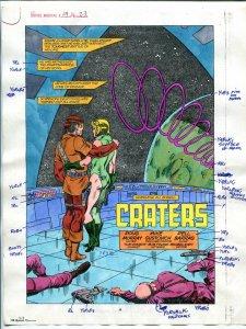 Justice Machine #24 Page #23 1988 Original Color Guide