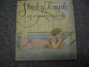 SHIRLEY TEMPLE IN THE POOR LITTLE RICH GIRL-1936 MOVIE VG