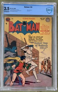 Batman #70 (1952) CBCS 2.5 -- Penguin app; Win Mortimer robot cover