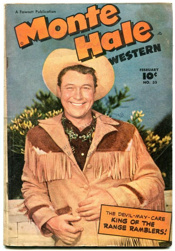 Monte Hale Western #33 1949-FAWCETT-MOVIE PHOTO COVER- vg