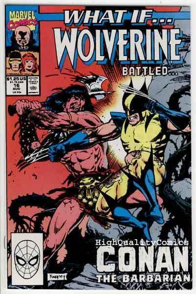 WHAT IF #16, VF/NM, Conan the Barbarian vs Wolverine, Red Sonja, 1989