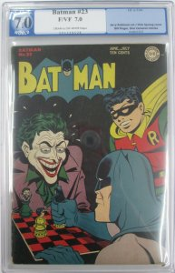 Batman #23~1944 DC~PGX 7.0 (FN/VF)~The Upside Down Crimes