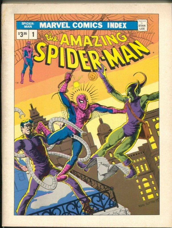Marvel Comics Index #1 1st issue-all Spider-man titles thru 1975-FN