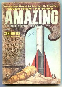 Amazing Stories March 1960- Seven From the Stars G/VG