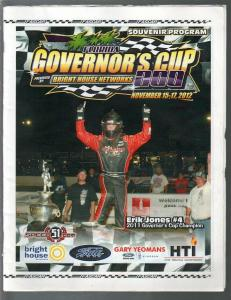 New Smyrna Speedway Governors Cup 200 Auto Race Program 11/17/2012-Erik Jones-VG