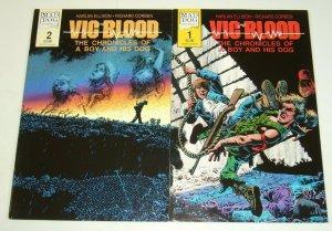 Vic and Blood #1-2 FN/VF complete series - richard corben - harlan ellison set