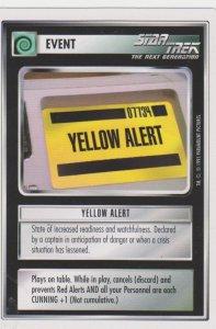 1995 Star Trek Trading Game Card Event-Yellow Alert