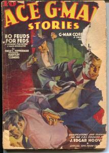 ACE G-Man Stories 3/1939-Popular-FBI pulp action-J Edgar Hoover-violent-G-