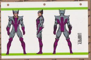 Official Handbook of the Marvel Universe Sheet- Lamprey