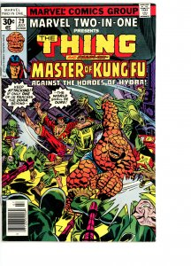Marvel Two-In-One 29 VG/F  Shang-Chi, Master of Kung Fu!