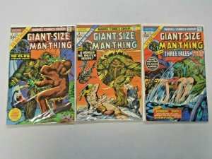 Giant-Size Man-Thing Lot #1,3,5 4.0 VG (1975)