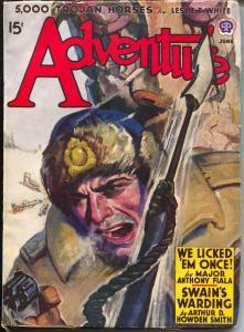 Adventure 6/1942-Popular-Malvin Singer-Jim Kjelgaard-Hugh B Cave-pulp-VF-
