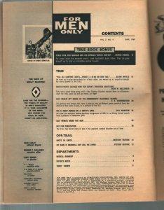 For Men Only 6/1960 Atlas-Mort Kunstler GGA-Al Rossi-Rudi Nappi-VG-