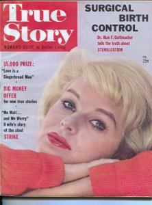 True Story 2/1964-Surgical Birth Control-pin up girl cover-exploitation-scand...