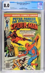 The Spectacular Spider-Man #1 (1976) CGC Graded 8.0