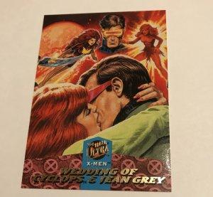 WEDDING OF JEAN GREY & CYCLOPS #125 card : Marvel '94 Fleer Ultra X-men, No/M