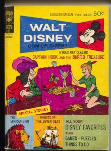 Walt Disney Comics Digest #31 1971-Peter Pan-Capt Hook-Carl Barks-G