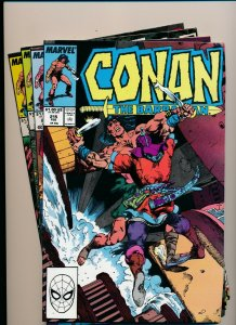 Marvel Comics Lot of 4-CONAN THE BARBARIAN #212-215 FINE/VERY FINE (PF915)