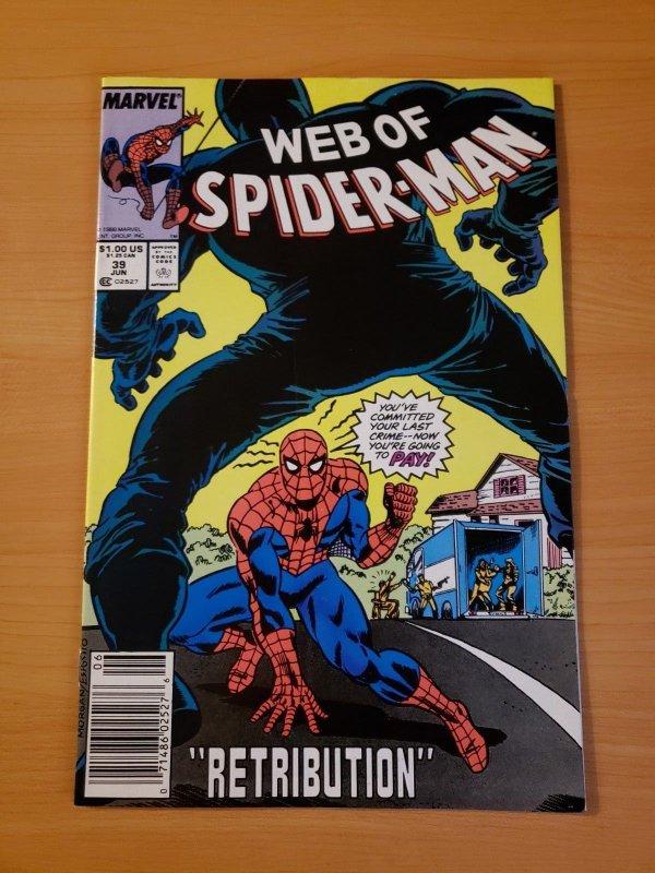 Web of Spider-Man #39 Newsstand Edition ~ NEAR MINT NM ~ (1988 Marvel)