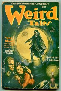 Weird Tales Pulp May 1944- Iron Mask- Lovecraft Sonnets VG