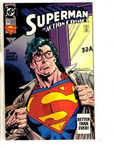 Lot Of 4 Superman DC Comic Books Action # 692 687 685 + Superman Special 1  TP6