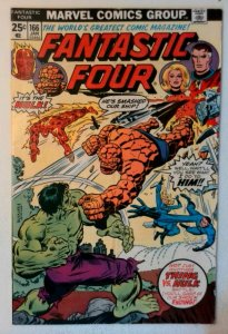 Fantastic Four #166 Marvel 1976 VG+ Comic Book Key Classic battle Hulk vs Thing