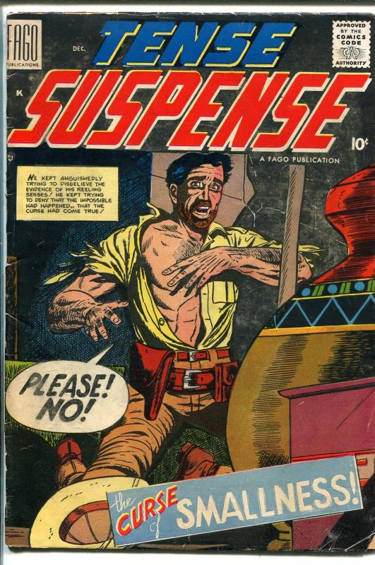 Tense Suspense #1 1958-Fago-1st issue-Egyptology-horror-Dick Ayers-GOOD/VG